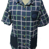 Plaid Print Soft Spread Collar Left