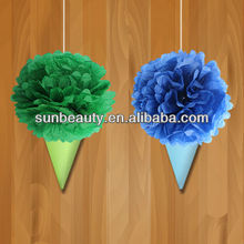 2014 NEW DESIGN Party Themed Gorgeous Tissue Paper Ice Cream Cone