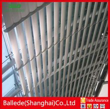 aluminum exterior cladding curtain wall louver with airfoil blades