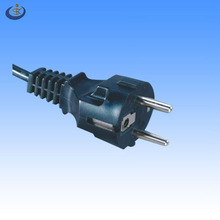 Euro CEE7/7 standard 3 pin straight type schucko power cord