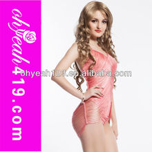 Pink fancy hot sell babydoll transparente