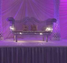 wedding crystal bride and groom chair for wedding stage decoration