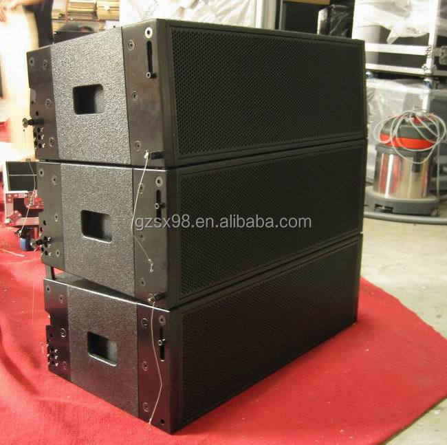 "double 10"" powered active line array pro speaker system"