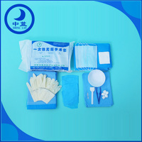 Disposable Sterile Operation Kit with Medical Cap, PE Gloves, and Surgical Knife