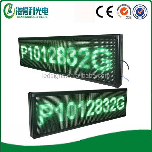 programmable 12v led car message moving scrolling sign display