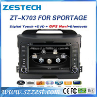 ZESTECH factory 7 inch 2 din car gps for kia sportage 2014 touch screen gps with DVD +3G+BLUTOOTH +AM/FM