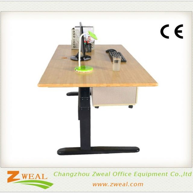managerial office electric adjustable desk laptop computer table