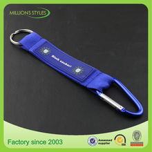 customized printing short strap carabiner lanyard with key ring