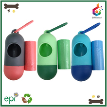 Pill shaped plastic pet waste bag holder wholesale