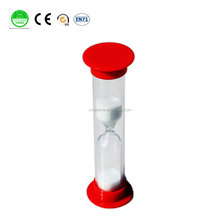 Sand hourglass 30 seconds Sand Timer red with white sand for children toys