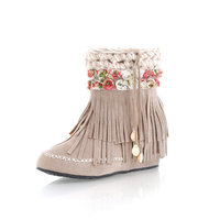 ZH0488L Factory direct suede women ankle snow boots winter tassel boots for women