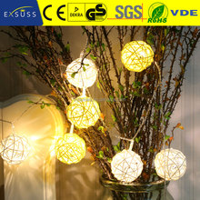 SKSL-002 Fashion design rattan ball string christmas decorative fairy light