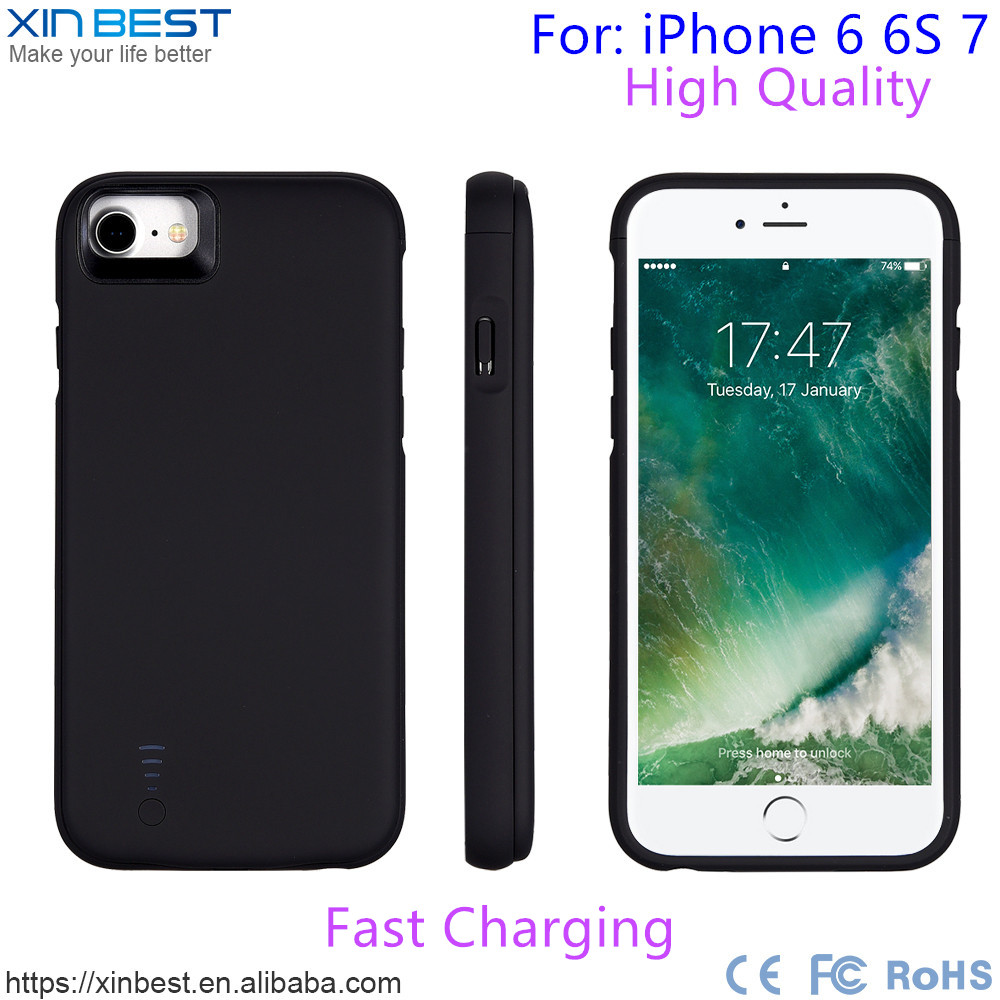 New Products High Quality Charger Case, Power Bank Case For Iphone 6 6S 7 Battery Case
