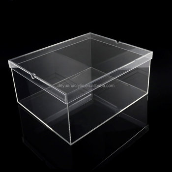 Shoes Box Plastic Acrylic Clear Shoes Box Take off Lid