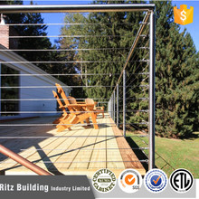 Modren design Building materials Square Round Stainless Steel Cable Railing Systems