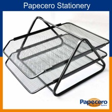 Office Stationery 2 Layer Wire Mesh Desk Organizer File Tray/Letter Tray