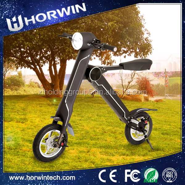 Electric foldable <strong>bike</strong> 2 wheel electric scooter one second folding bicycle from Horwin