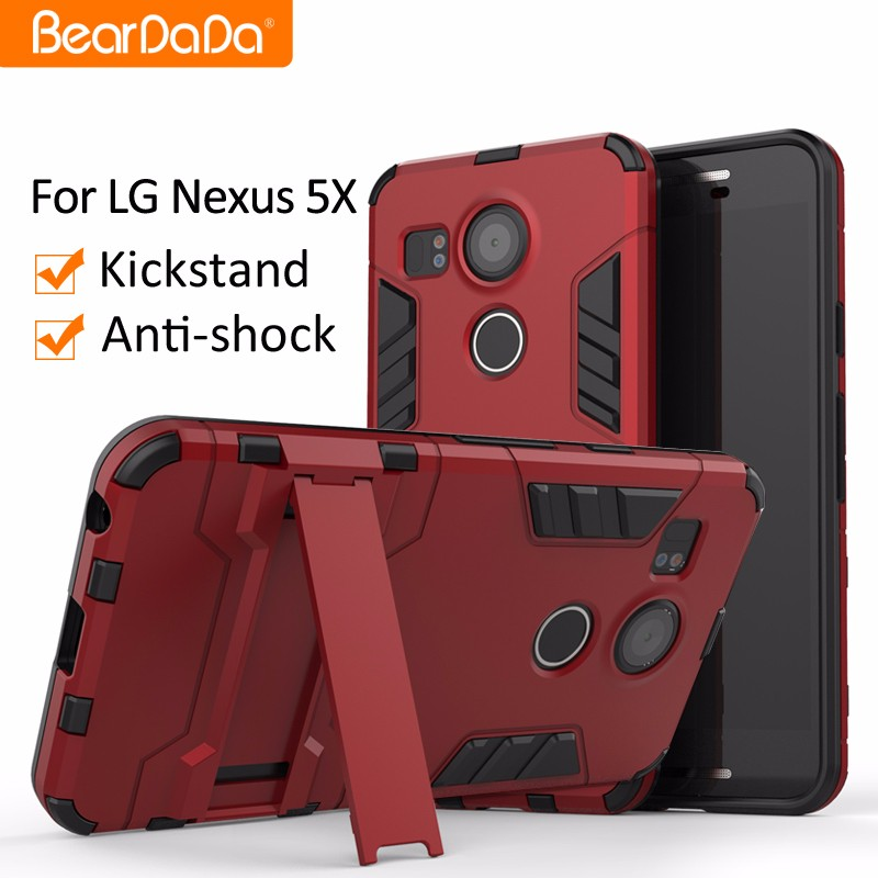 Shockproof kickstand for lg nexus 5 case cover