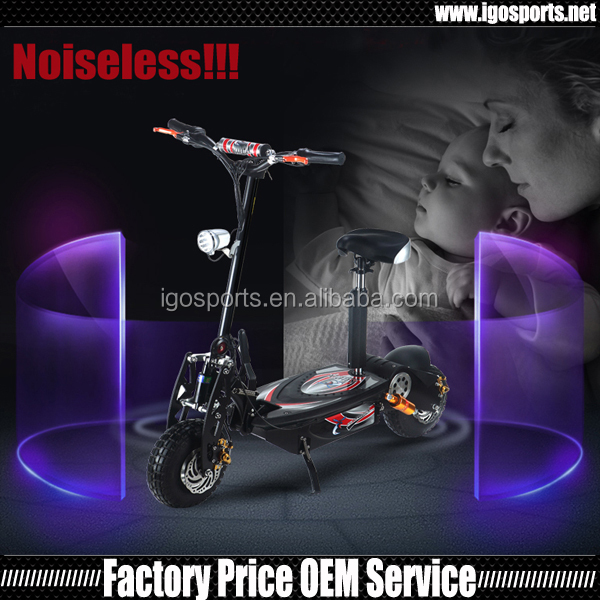 high speed foldable disc brake 1600w electric scooter with seat
