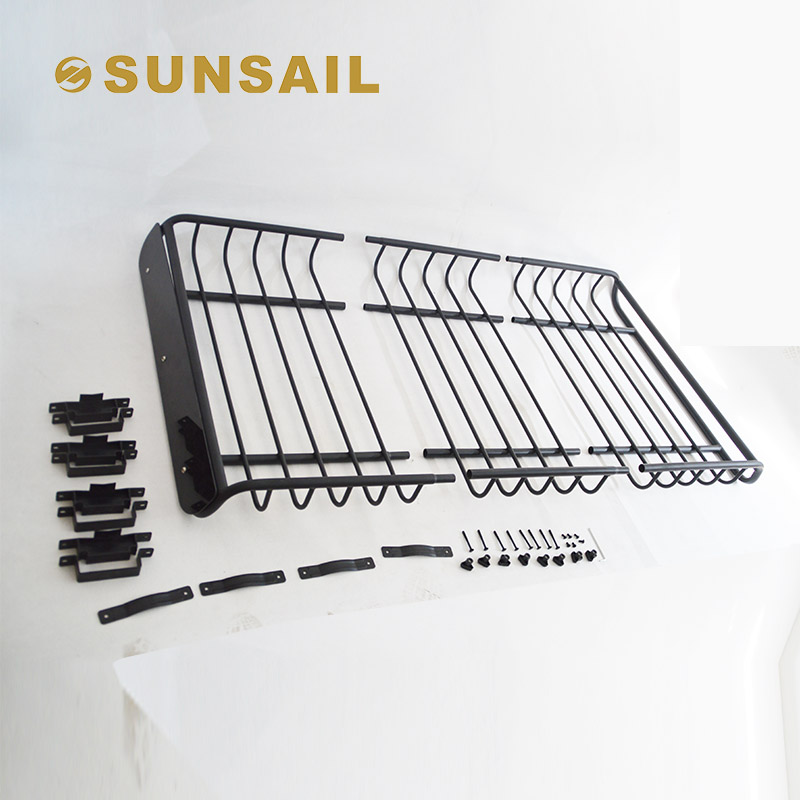 "Universal 66"" Black Roof Rack Extension Cargo Top Luggage Hold Carrier Basket"