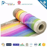 wholesale factory price alibaba stock glitter printing tape for diy with label