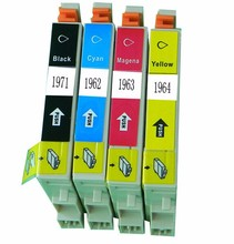 Compatible refill ink cartridge 197 T1971/T1962/T1963/T1964 for epson xp 411