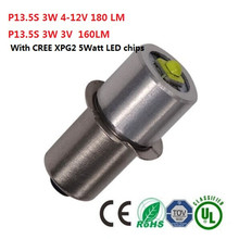 P13.5 LED Flashlight Bulb 3W 12V led pocket lamp bulb