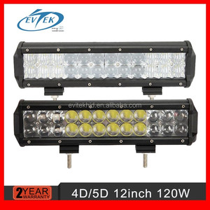 5D lens LIGHT BAR 12 inch 120w 5D LED light bar straight combo beam Offroad work