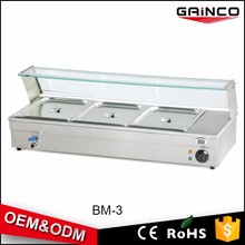 commercial kitchen equipment china stainless steel cooking equipment buffet bain marie BM-3