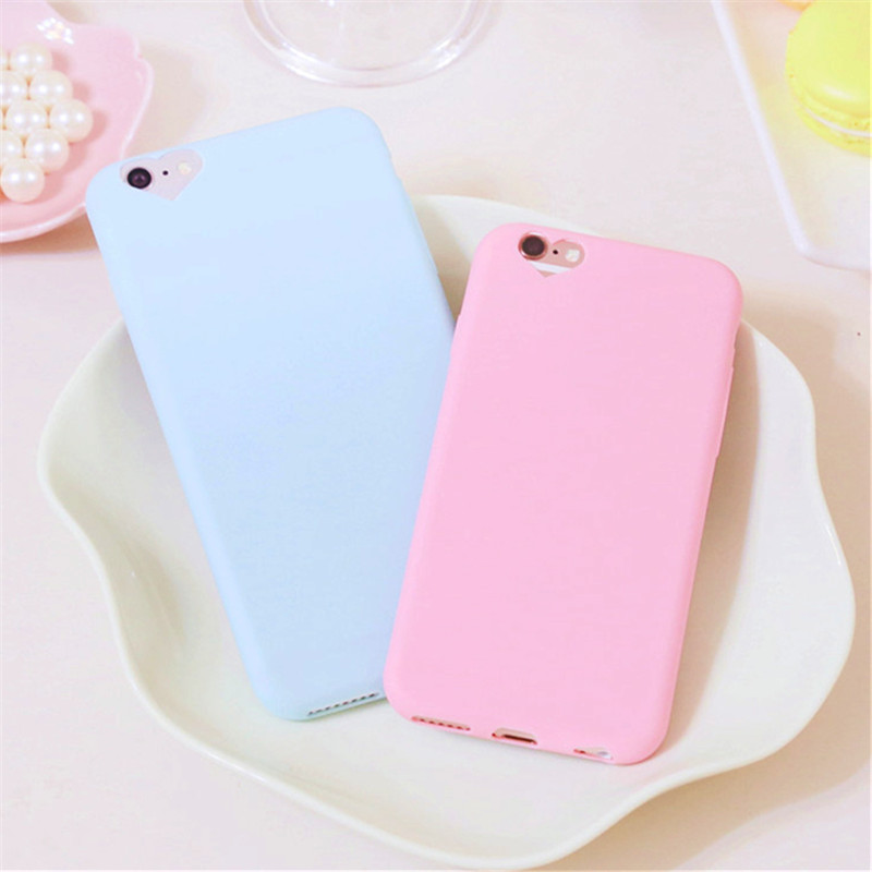 Cute candy Color Loving Heart Design Cover Case for iPhone5 mobile phone case for Apple iPhone 5 5S SE cases