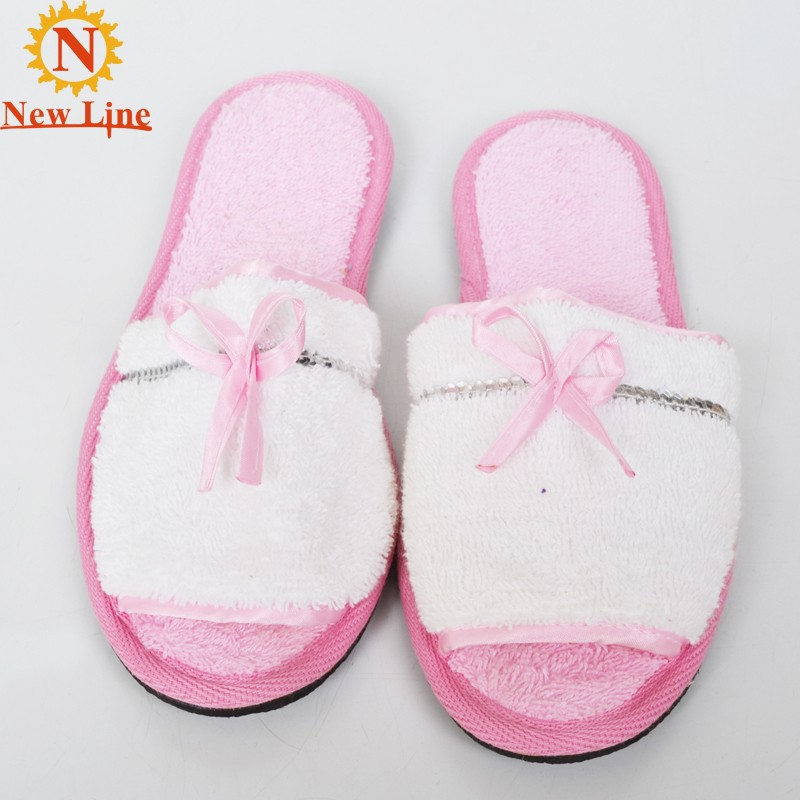 Turkish cotton open-toed ladies bedroom slippers women fancy slippers