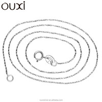 OUXI Fashion jewelry Simple long silver necklace chain Y40005