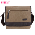 China cheap used leather briefcases canvas cross body bag laptop shoulder messenger bag for men