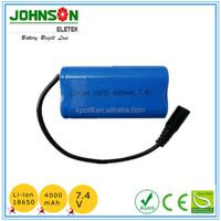 Rechargeable Li-ion 14.8v 2200mah 18650 battery pack 4S1P