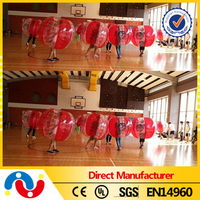 2016 Durable TPU / PVC Human Hamster Beach Ball Inflatable Transparent Knocker Bumper Ball