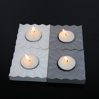 Hotsale decorative pillar candle in personalized stone holder