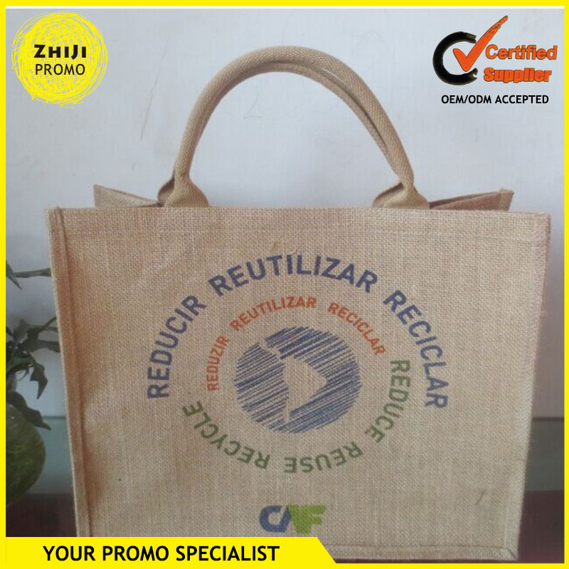 New Customized Tea Packing Multi-Purpose Promotional Eco-Friendly Shopping Carry Custom Logo Print Big Jute Bag