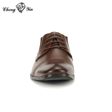 New model brown turkish leather mens dress leader shoes for men