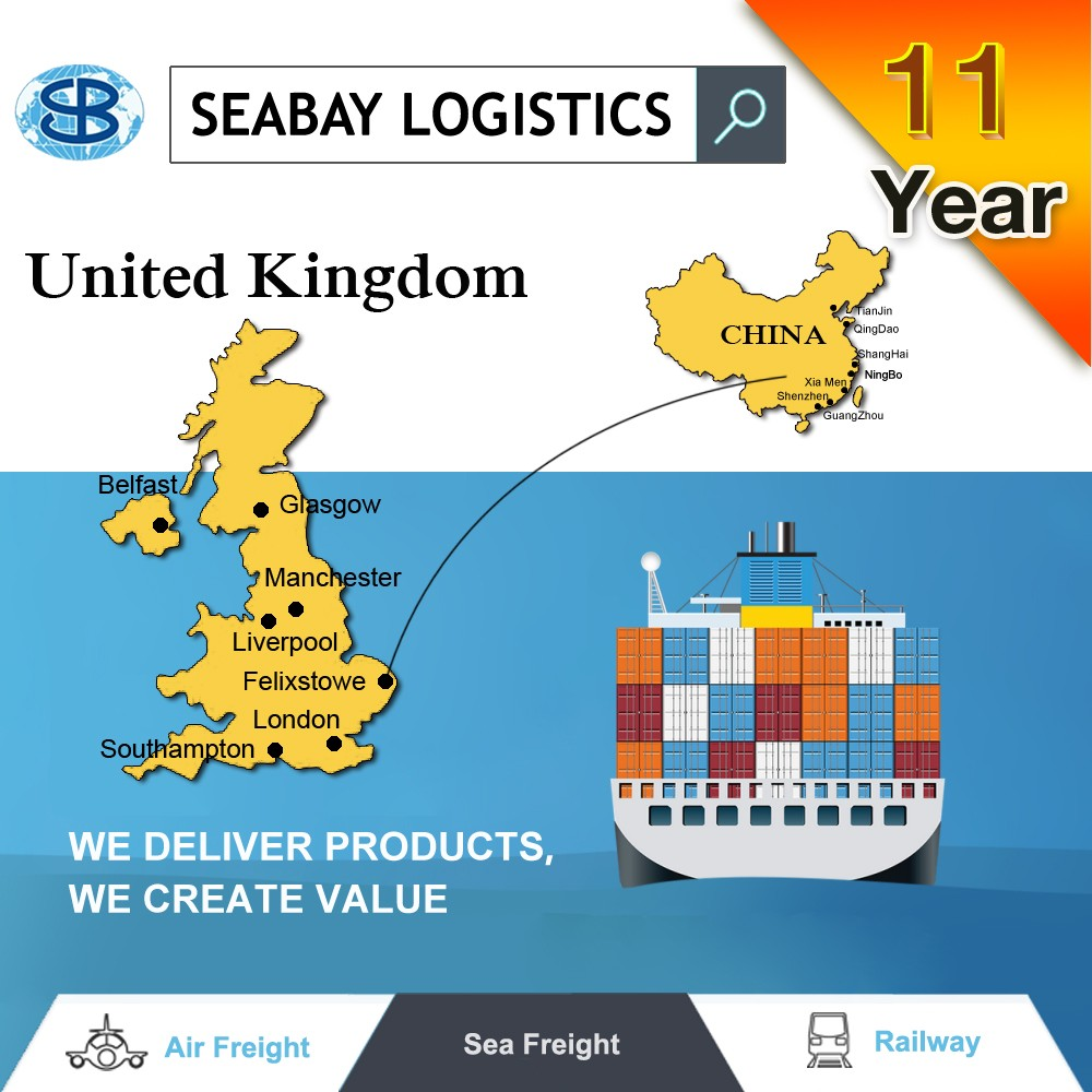 Container sea freight shipping from shenzhen to UK