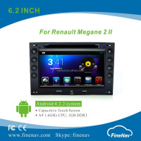 "Finenav 7"" HD Android 4.2 Auto DVD with 3G,Wifi for Renault Megane 2 with Gps Navi,Bluetooth,Ipod Support Rear View Camera,DVR"