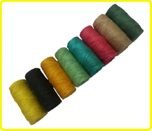 100% natural 3 ply jute twine spool , color twisted jute twine , dyed colored jute yarn and jute twine