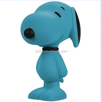 Custom make 5.5 inch classic flocked animal toys, OEM plastic vinyl toys, making flocking vinyl toys
