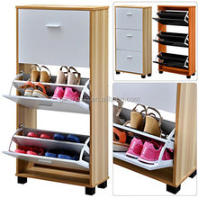 Modern stylish wooden shoe cabinet design (DX-8608)