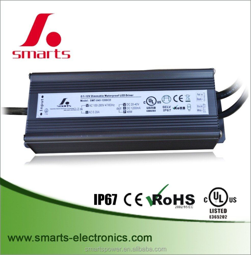 40-62Vdc Constant current 0-10v dimming led driver