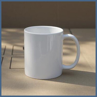 Wholesale white blank custom printed ceramic mug