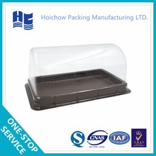 Oblong plastic packaging tray with changable cover for various of food packaging