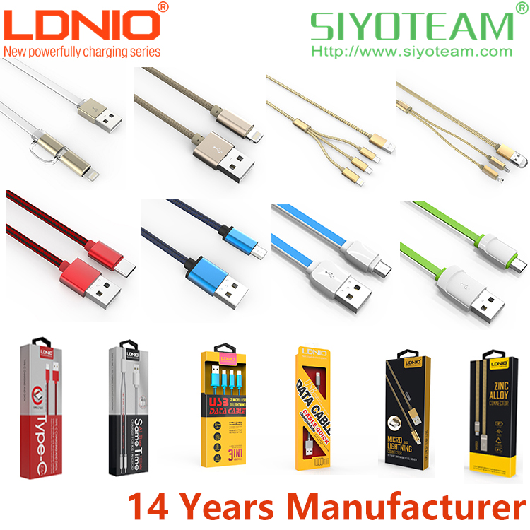type c cable LDNIO Fast Charge USB Cable for Android & IOS