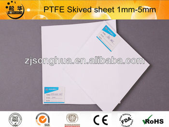 PTFE skived sheet thichkness 0.1mm-6mm