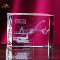 Lifting Machine Model Blank Crystal Cube With Engraved