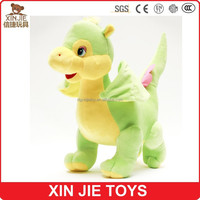 cute green plush dinosaur toy with wings